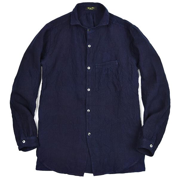 3d_2aa_da_al_classic frenchwork_heavylinen_indigo_shirt1