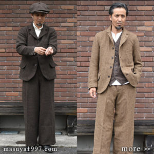 "DjangoAtour ""classic shetlandwooltweed tailor jacket & trousers"""