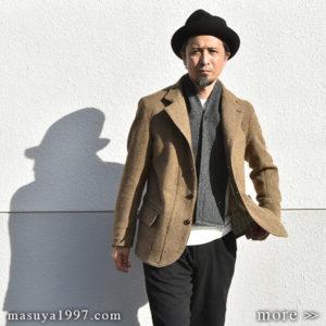 "DjangoAtour ""classic shetlandwooltweed tailor jacket"""