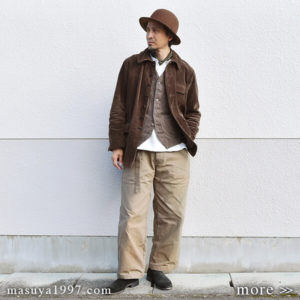 "DjangoAtour ""anotherline corduroy coverall"""