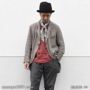 """DjangoAtour """"classic stripelinen w-vest & cravat scarf"""""""