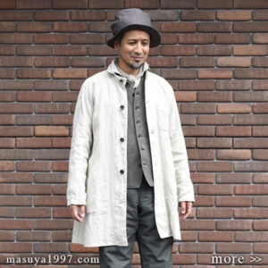 "DjangoAtour ""classic farmers heavylinen coat"""